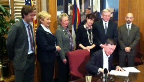 Governor Hickenlooper signs House Bill 12-1001, a precursor to Colorado Senate Bill 10-191.