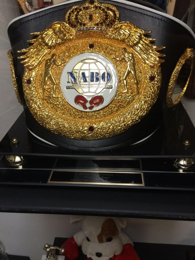 The North American Boxing Association belt.