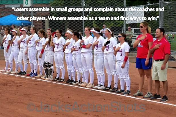 Cherry Creek High School prepares to take the field against Castle View High School in Varsity Softball.