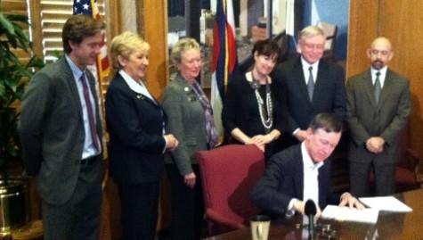 Governor Hickenlooper signs House Bill 12-1001, a precursor to Colorado Senate Bill 10-191.