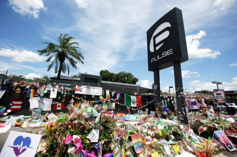 A makeshift memorial made outside the Pulse Nightclub days after the shooting.