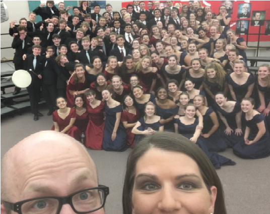The Choirs takes a selfie before the show.