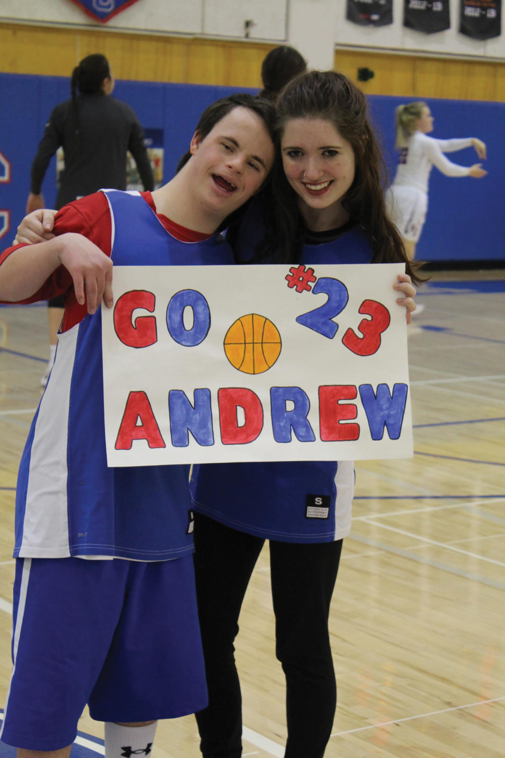 THE UNION: Andrew Goodspeed plays basketball with the writer at the Unified Valentine's Day game.
