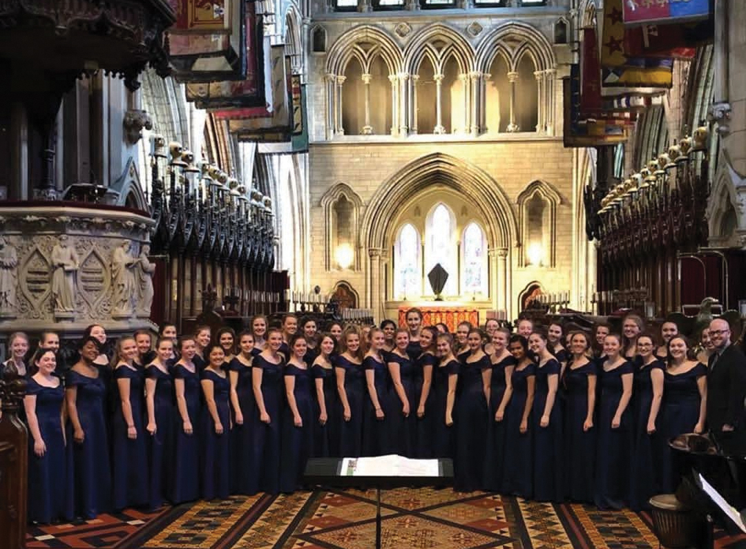 Girls' 21 performed at St. Patrick's Cathedral on their trip to Dublin, Ireland over Spring Break.