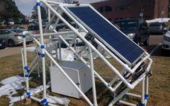 Engineering physics class installs solar panel