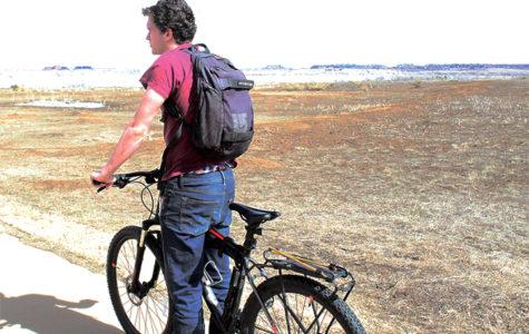 Biking to school never seemed so cool