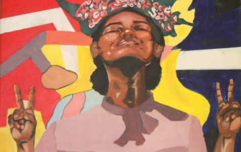 PRIDE IN YOURSELF: For some being a minority in Creek can be challenging. Of course no two experiences are the same. The above painting is one in a series by senior Mahkeda Kalayu in which she celebrates the individuality of black youth.