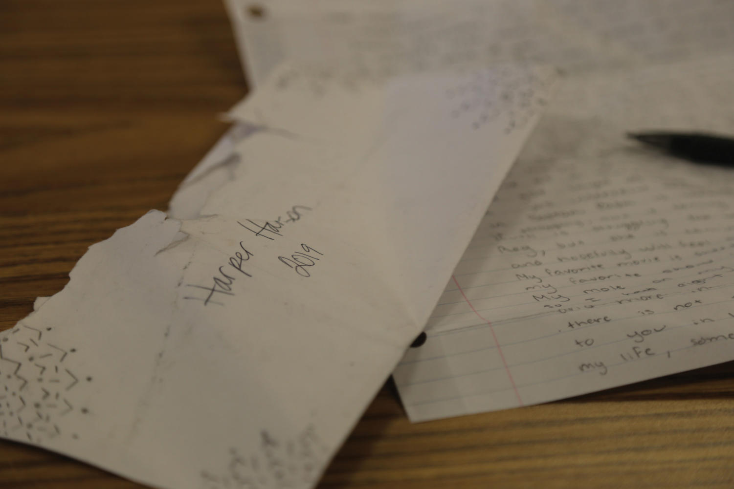 LETTER FROM THE PAST: Each freshman, in their Creek 101 class, is instructed to write a letter to their senior selves. The letters allow the seniors to rediscover a younger version of themselves and reflect on how they've changed, or not.