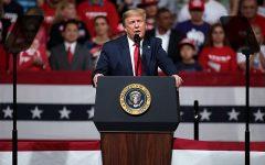 Trump at a rally in Phoenix, Arizona on February 19, 2020.