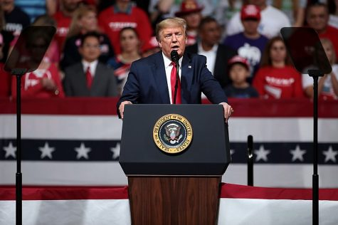 Trump at a rally in Phoenix, Arizona on February 19, 2020.