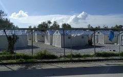 In the Moria Camp: the tented homes for the refugees in the camp of Moria on Lesbos are becoming overcrowded. Even more homes and tents are needed now because the camp's own refugees started a fire over COVID quarantine restrictions.