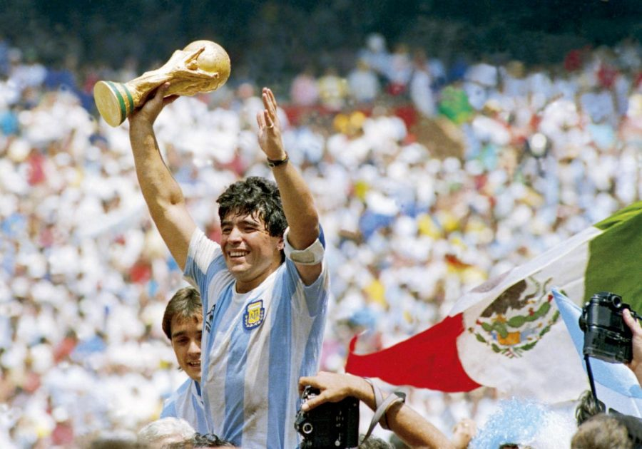 Maradona led his country, Argentina, to the title of the 1986 World Cup in Mexico in what many consider to be the the greatest performance of a player in the history of World Cups.