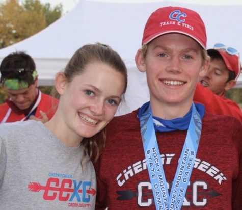 Champs: Baylor Wolfe (left) and Parker Wolfe are all smiles after Parker Wolfe won an individual state championship on October 17th.
