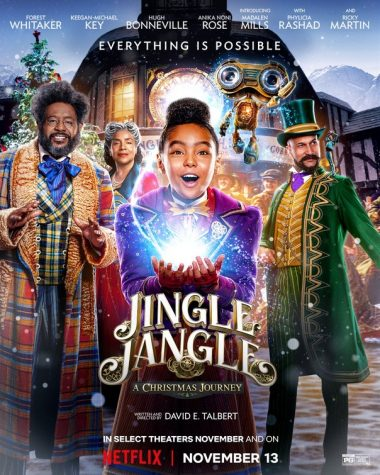 Jingle Jangle: A Christmas Journey is set in the festive town of Cobbleton, where a once highly esteemed toy maker named Jeronicus Jangle has been betrayed by his seemingly loyal apprentice. Now it's up to his estranged granddaughter, Journey, to turn his frown upside down and get his Christmas spirit back.