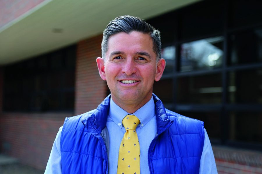 Discussing Creek's mental health with Principal Ryan Silva