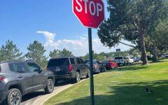 Traffic is often backed up on Dayton St. outside East Building.
