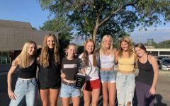 After two years of finishing as runner-up, Creek's Girl Cross Country claims victory in the State Championship and goes on to win Nationals in the middle of a Global Pandemic. Pictured from left to right: Abby Maclean, Addy Laughlin, Claire Semerod, Addison Price, Riley Stewart, Shelby Balding, and Baylor Wolfe.